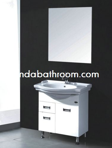 bathroom with white vanity PC-1606