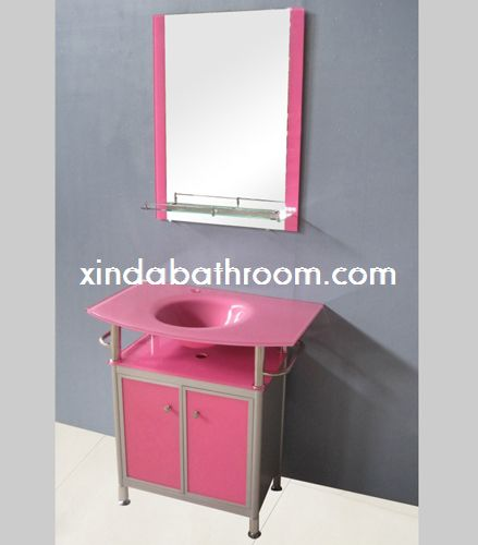 vessel sink vanity,glass vanity,glass sink vanity with tempered ...